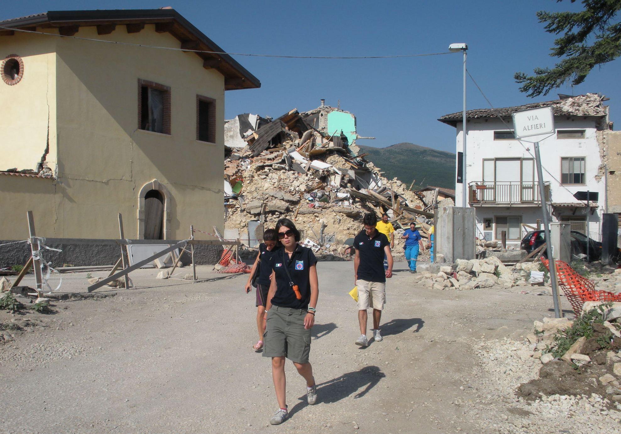terremoto de L'Aquila, dottoranda di protezione civile