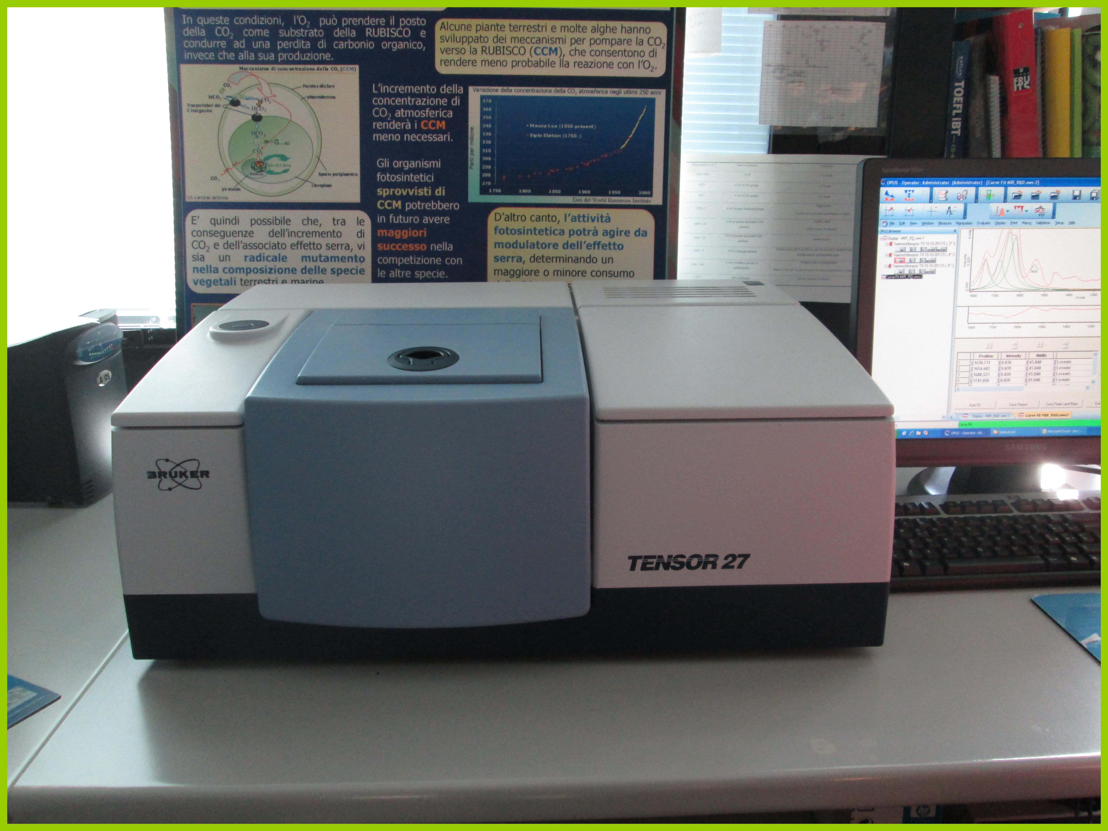 Spettrometro FTIR Tensor 27 (Bruker Optik GmbH)
